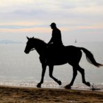 fotografia trekking a cavallo sul mare della Toscana